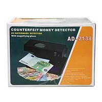Детектор валют ad-2138, оптическая линза, уф-лампа, белый свет, питание от сети 220в, компактные размеры
