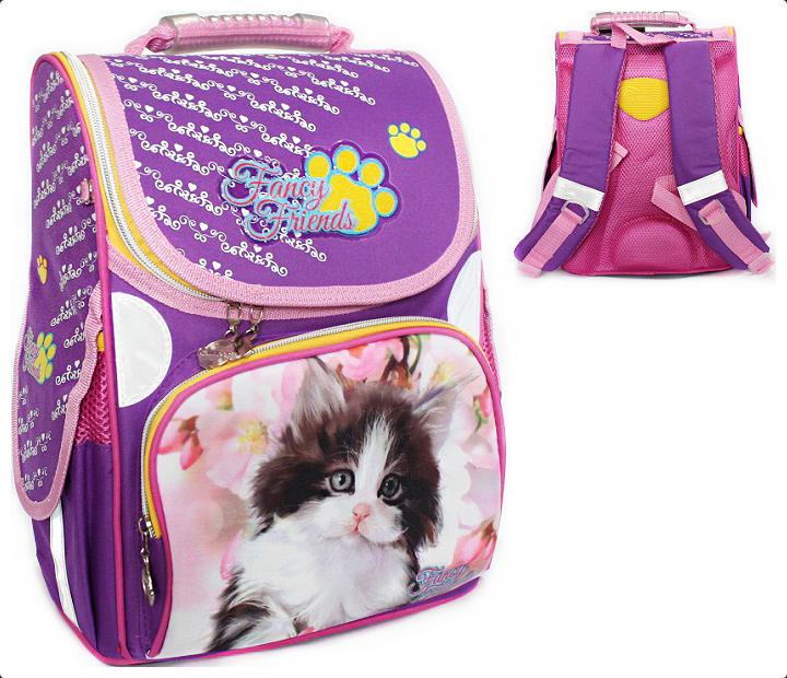 02890c9ec6ef Рюкзак ранец школьный Fancy Kitten RAINBOW 8-506 для девочки ...