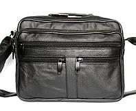 Вместительная мужская удобная сумка из натуральной кожи (820)