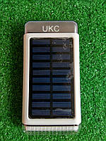 Powerbank UKC 15000 mAh, солнечная панель, фонарик