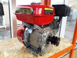 Двигатель бензиновый gx-220 DDE 170FB 7.5 л.с  19-20 шпонка и 2-х ручейковый шкив.