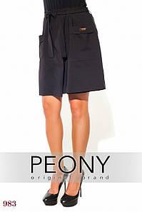 Женские шорты Энс (52 размер, черный) ТМ «PEONY»