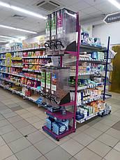 Cтойка стеллаж для диспенсеров, емкостей для сыпучих продуктов, фото 3