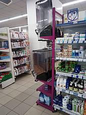 Cтойка стеллаж для диспенсеров, емкостей для сыпучих продуктов, фото 2