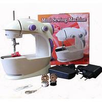 Швейная машинка Mini Sewing Machine 4 в 1, с блоком питания