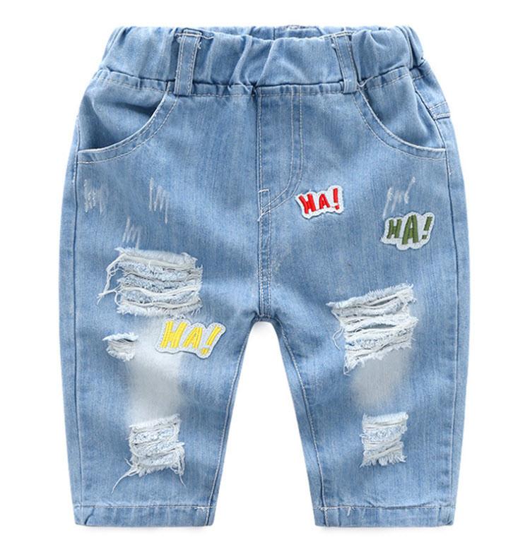 """Бриджи джинсовые """"Ха-ха-ха"""""""