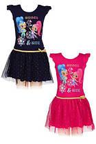 Платье трикотажное  для девочки оптом, Дисней, размеры 92-116, арт. 640-053
