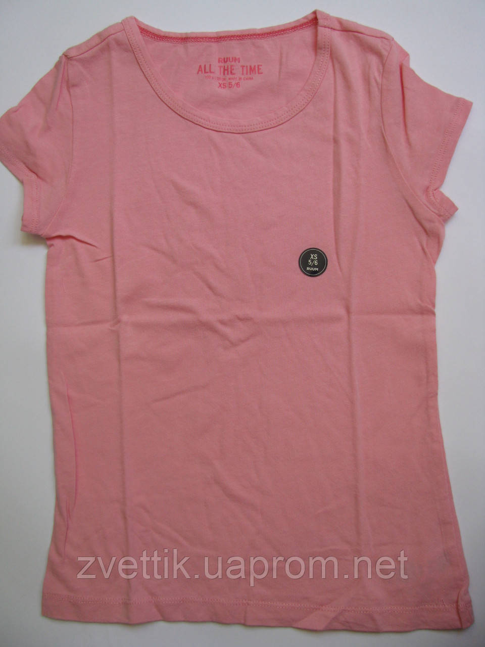 Розовая хлопковая футболка (Размер XS5-6) RUUM (США)
