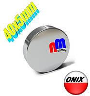Польский неодимовый магнит 40мм*5мм, 30кг, N42, фото 1