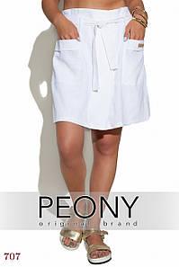 Женские шорты Сьен (50 размер, белый) ТМ «PEONY»