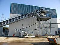 Стационарный бетонный завод ELBA EBC-B с линейным бункером инертных материалов и ленточным транспортером , фото 1