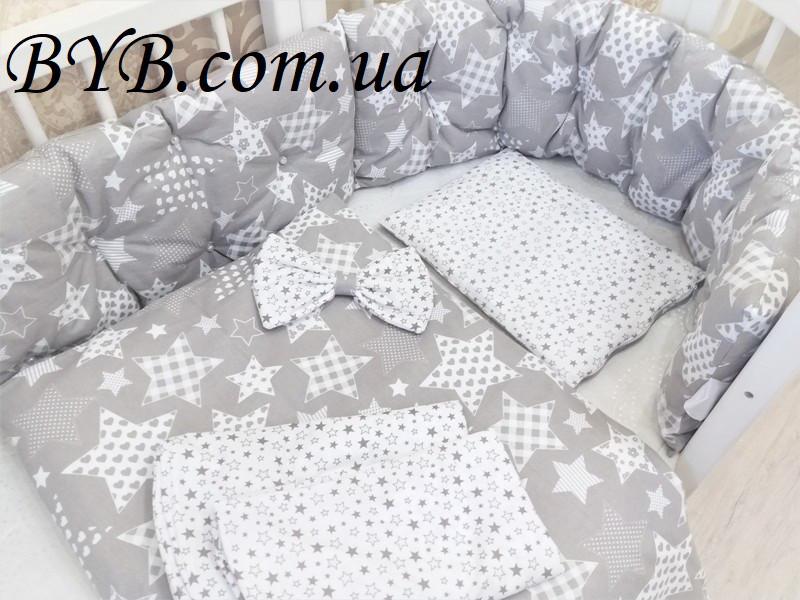 """Комплект постельного белья и бортики """"Млечный путь"""""""