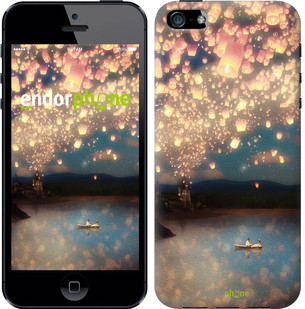 Чехол на iPhone 5 Фонарики