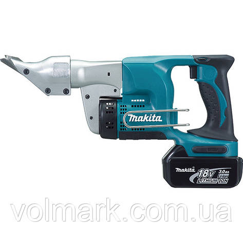 Аккумуляторные ножницы по металлу Makita DJS 130 RFE, фото 2