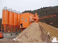 Стационарный бетонный завод ELBA EBC-S со звездообразным складом интертных материалов и радиальным скрепером, фото 1
