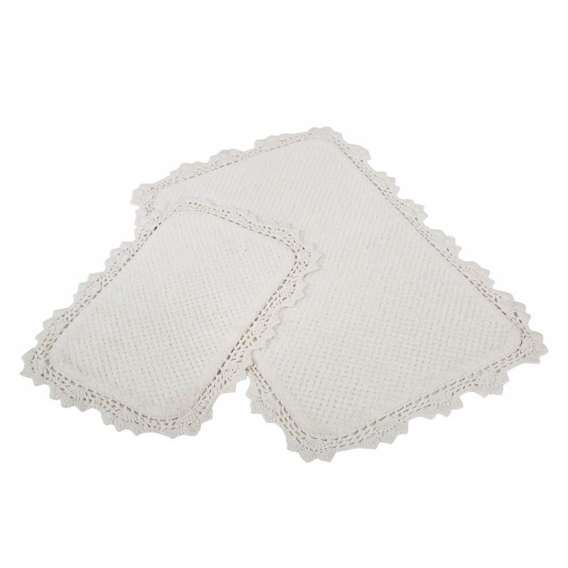 Набор ковриков Irya - Serra ekru кремовый 60*90+40*60