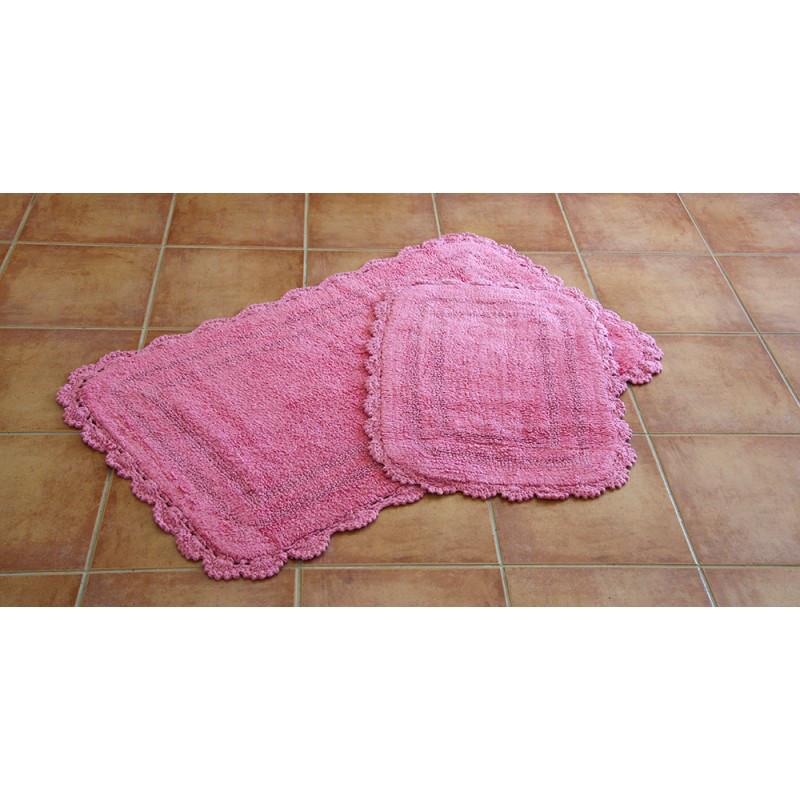 Набор ковриков Irya - Sahra pembe розовый - 60*100+45*60