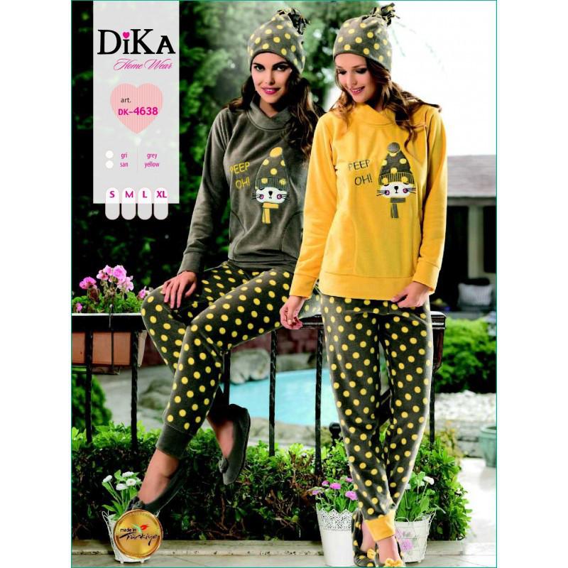 Домашняя одежда Dika - Пижама женская 4638 XL желтый