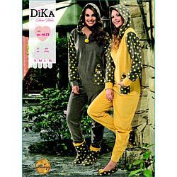 Домашня одяг Dika - Піжама жіноча 4633 L сірий