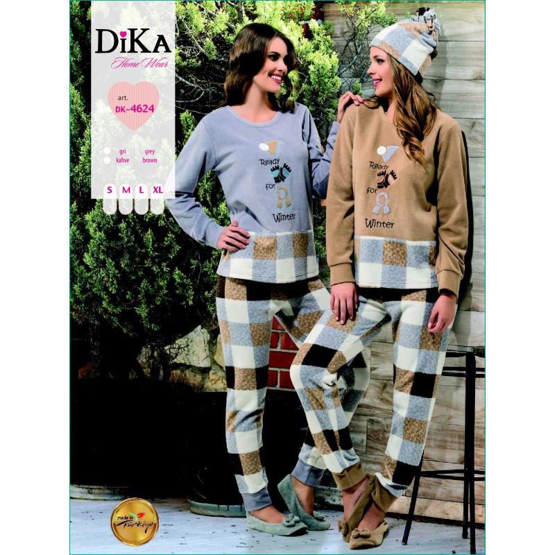 Домашняя одежда Dika - Пижама женская 4624 S бежевый