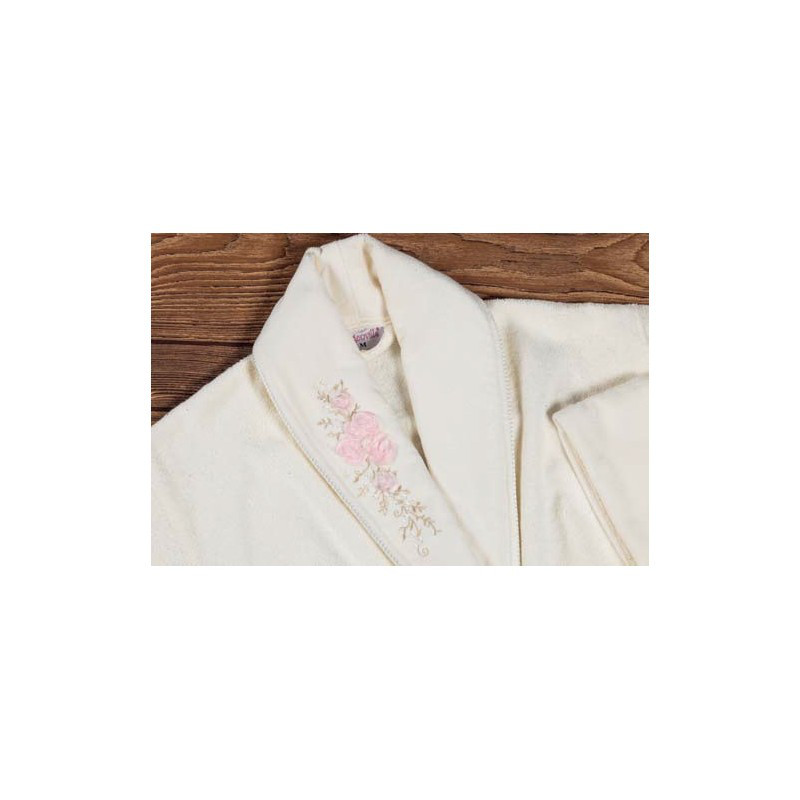 Халат махровый с полотенцем Begonville - Bouquet крем M