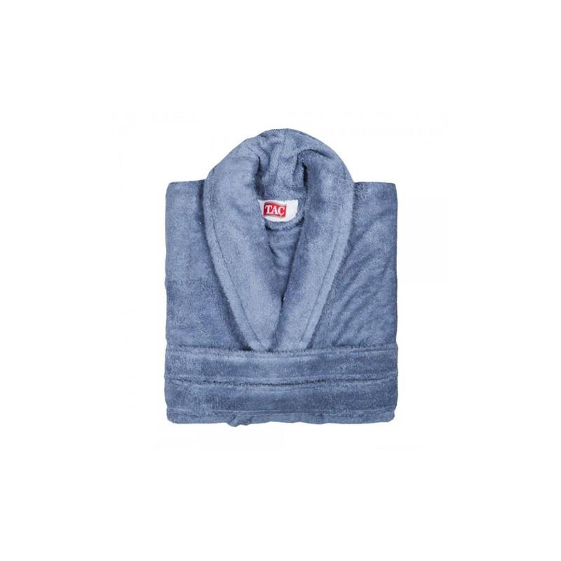 Домашняя одежда Tac - Халат махра бамбук Maison 3D Koyu mavi L/XL