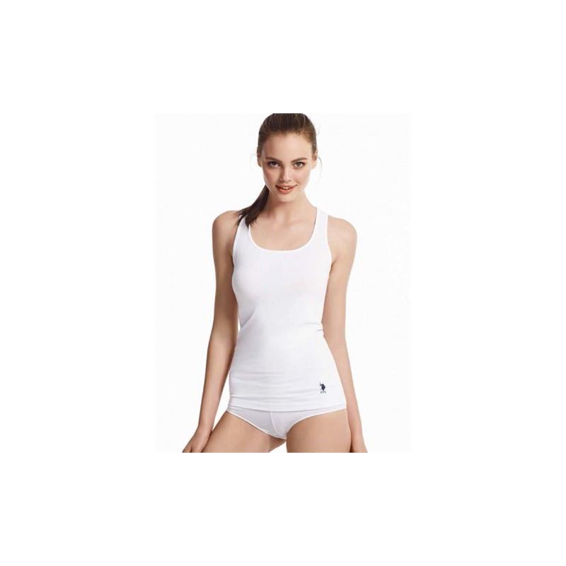 Домашняя одежда U.S. Polo Assn - Майка женская Vesn 66001 белая, 40р. 1шт