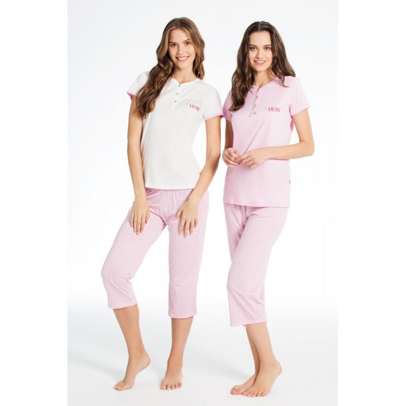 Домашняя одежда U.S. Polo Assn - Футболка и бриджи 15587 молочные, S