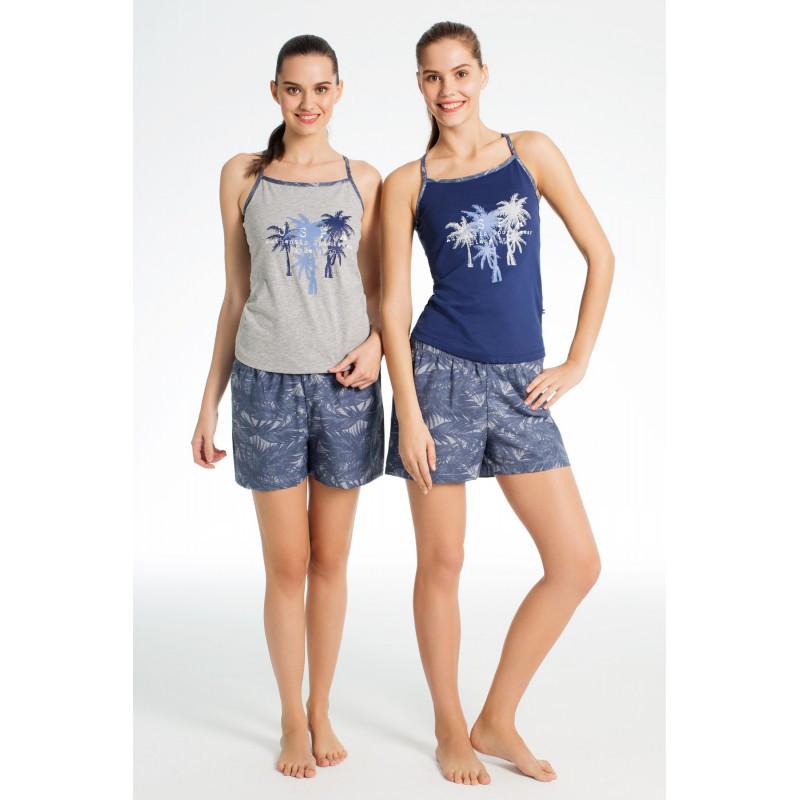 Домашняя одежда U.S. Polo Assn - Майка и шорты 15637 серые, M