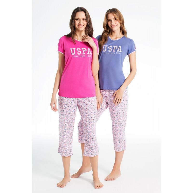 Домашняя одежда U.S. Polo Assn - Футболка и бриджи 15601 фуксия, S