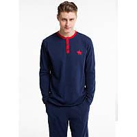 Домашняя одежда U.S. Polo Assn - Пижама мужская (длин.рукав) 17135 синяя, S