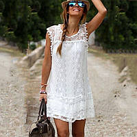 Летнее кружевное платье лето