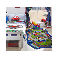 Ковер в детскую комнату Confetti - Circle Track зеленый 100*165