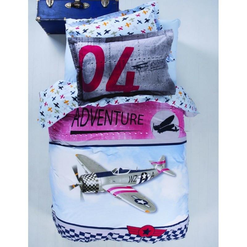 Постельное белье Karaca Home - Adventure 2017-1 ранфорс пике подростковое