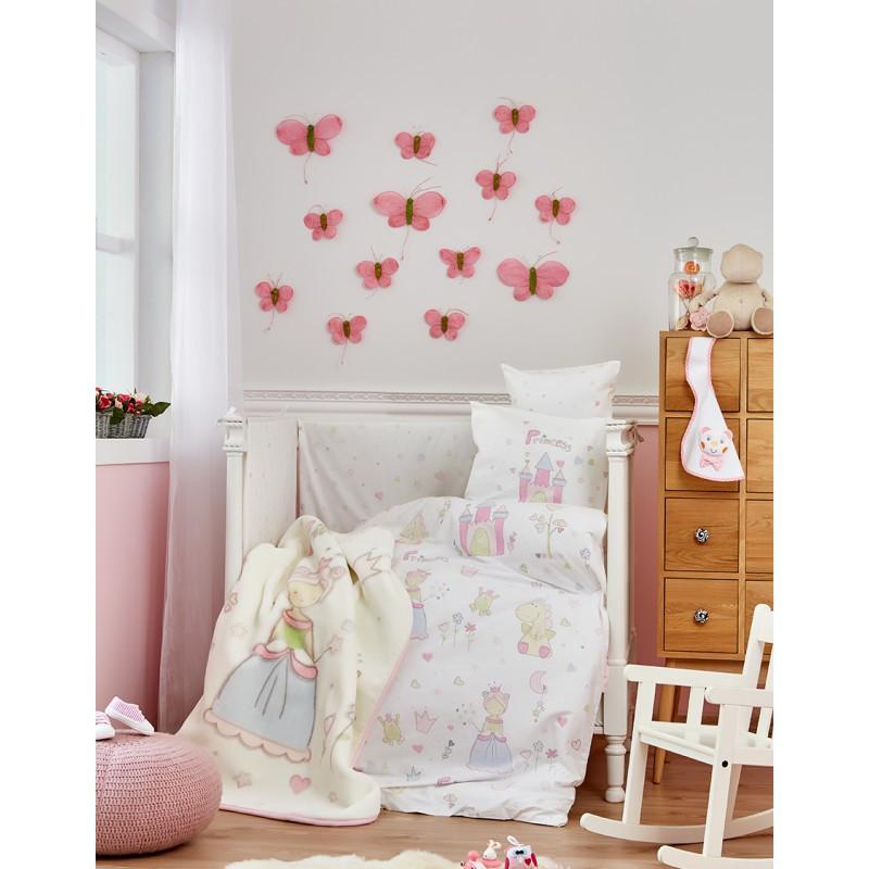 Детский плед в кроватку Karaca Home - Princes 2018-1 100*120