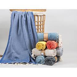 Полотенце Barine Pestemal - Tan 100*175 Denim синий