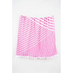 Рушник Barine Pestemal - Cross 95*165 Pink рожева