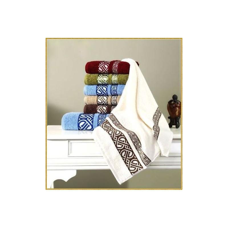 Полотенце махровое Cestepe - Vakko cotton молочный 70*140