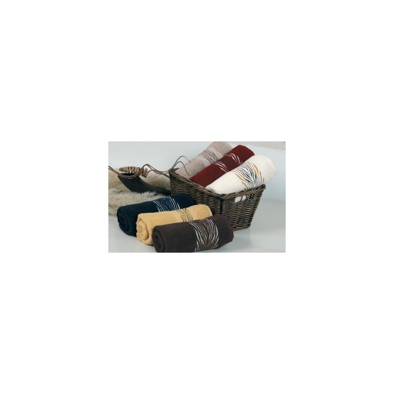 Полотенце махровое Cestepe - Зебрa cotton желтый 70*140