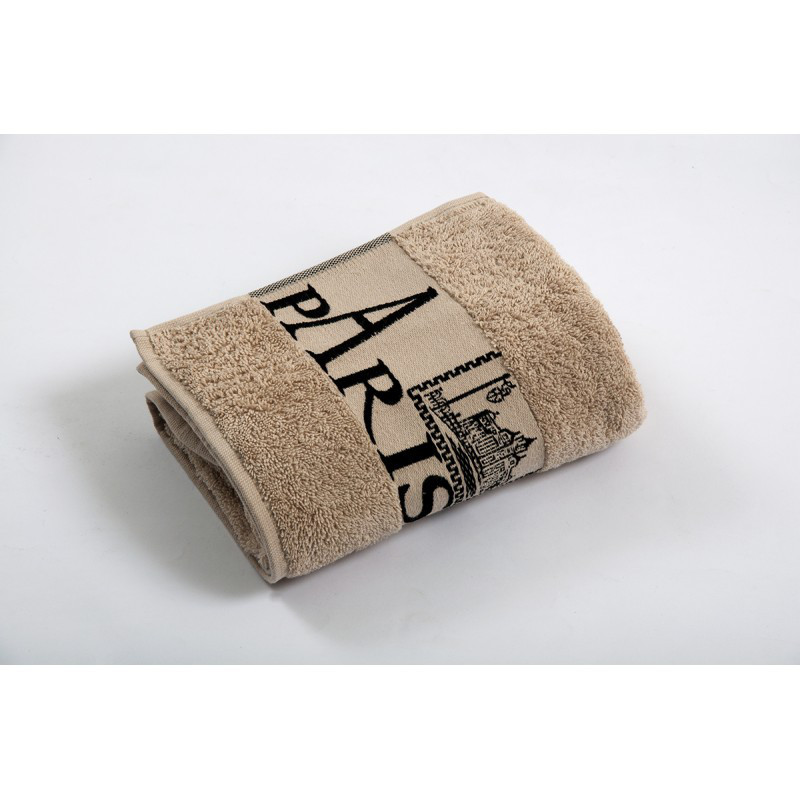 Полотенце махровое Cestepe - Paris cotton бежевый 50*90