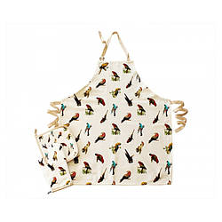 Набор для кухни Barine - Parrots фартук + прихватка + рукавица