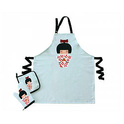 Набор для кухни Barine - Little Wagashi фартук + прихватка + рукавица