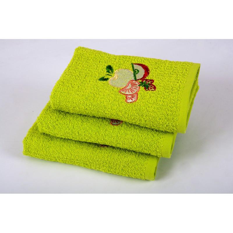 Полотенце кухонное Lotus вышивка - Fruit зеленый 40*60