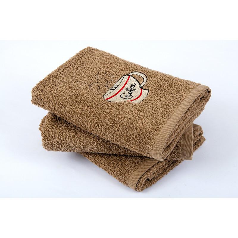 Полотенце кухонное Lotus вышивка - Cup Coffee кофе 40*60