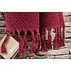 Рушник махровий Buldans - Cakil Burgundy бордо 90*150, фото 2
