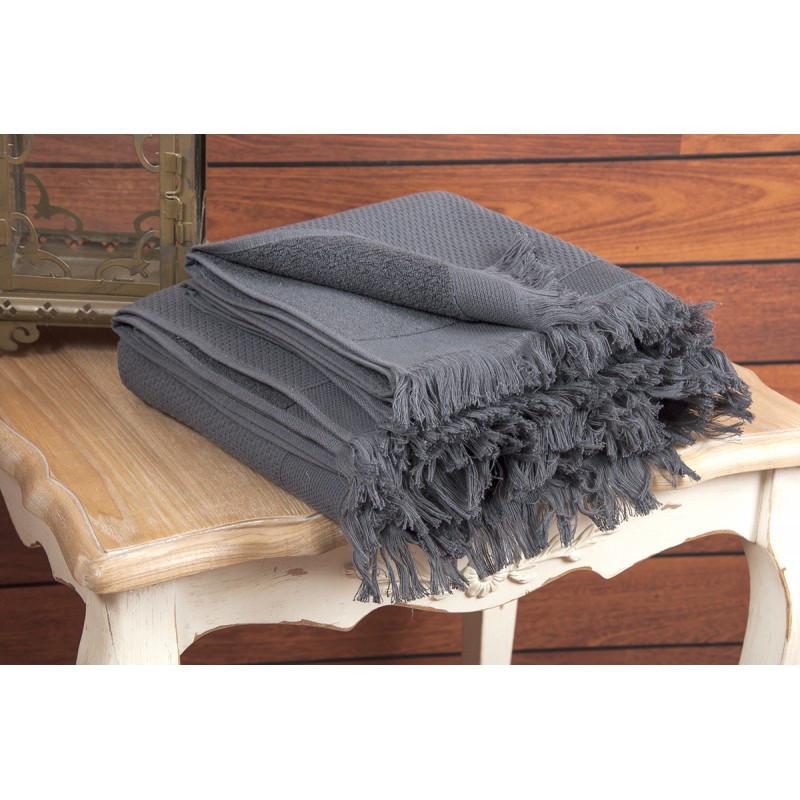 Полотенце махровое Buldans - Siena Antracite 90*150