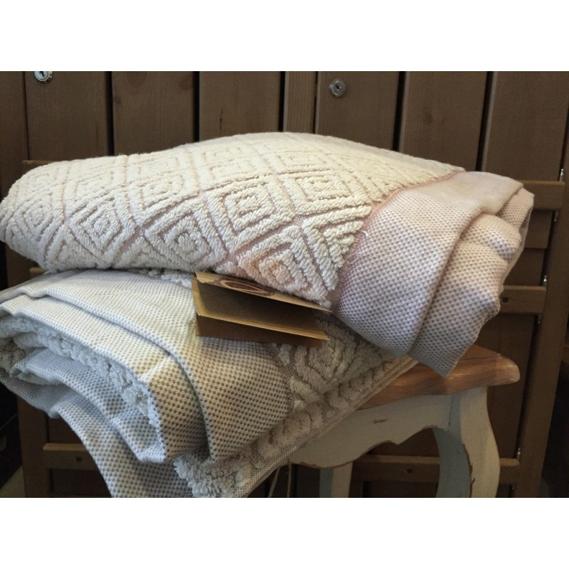 Полотенце махровое Buldans - Knidos brown коричневое 90*150