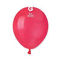 """Воздушные шарики пастель красные 3"""" (8 см) латексные бомбочки"""