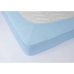 Простынь махровая на резинке Lotus - Голубой 160*200+25