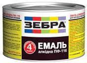 Эмаль алкидная ПФ-116 Зебра(0,3кг)